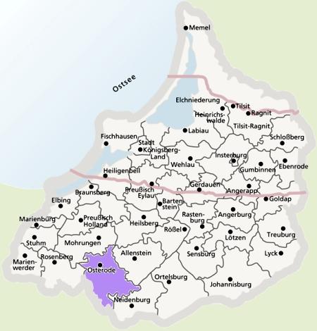 Kreis Osterode (Ostróda) - Deutsche Kolonisten