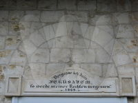 Musterhaus Inschrift